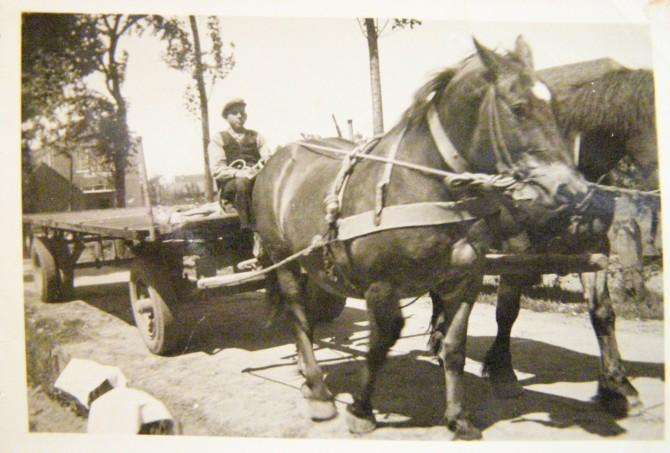 40-50 Bene Wit (1924) met paard Nelly Tilweg t.o. Cafe Aldershof