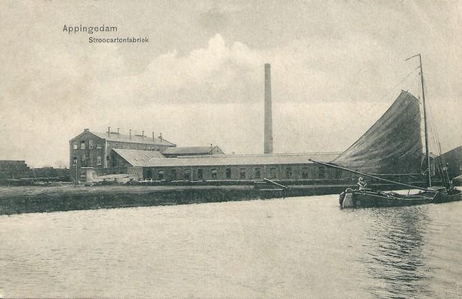 Appingedam Stroocartonfabriek De Eendracht 1907  coll  Piet de Greef Delfzijl