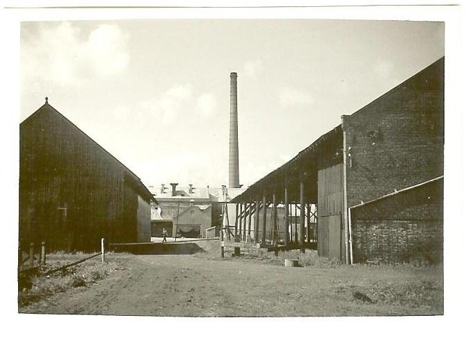 Zicht op strokartonfabriek Erica II in Oostwold